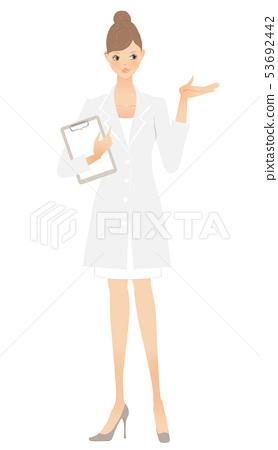白衣女子(左手) 53692442