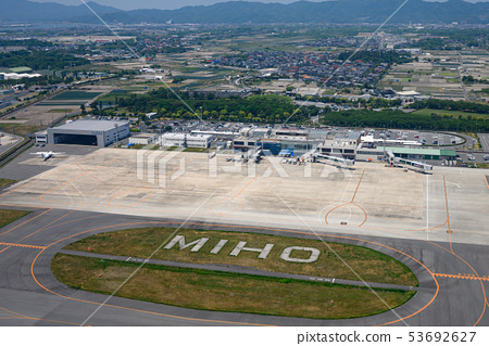 Yonago Airport seen from above 53692627
