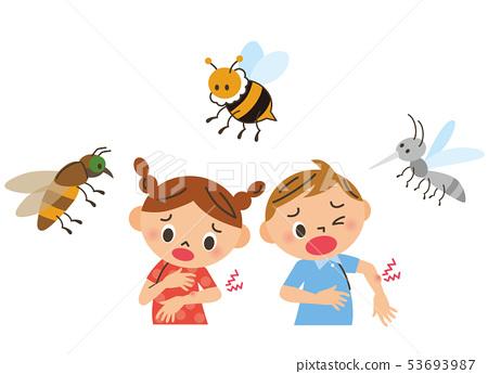 被昆蟲刺傷的孩子 53693987