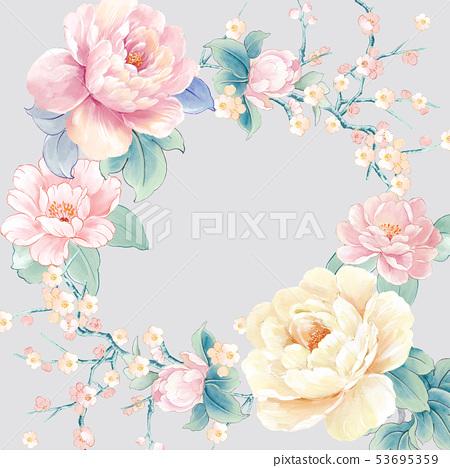 水彩花連衣裙,武士,婚禮儀式,婚禮儀式 53695359
