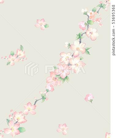 水彩花連衣裙,武士,婚禮儀式,婚禮儀式 53695368
