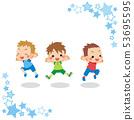 男孩三重奏[明星框架]上下跳跃 53695595