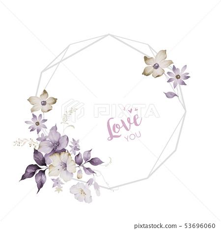 水彩花,玫瑰元素,玫瑰,愛玫瑰,母親玫瑰,婚禮,生日 53696060