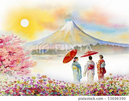 Travel Mount Fuji of Japan - Famous landmarks. 53696390