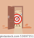 Big target behind opened door 53697351