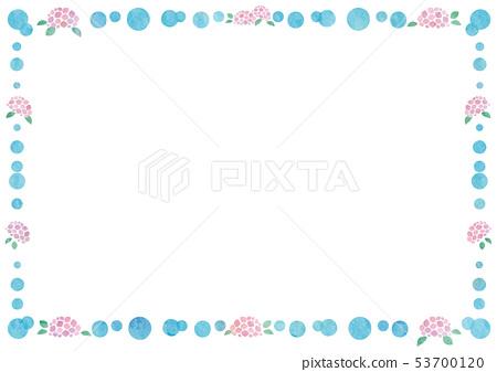 框架材料 - 可愛波爾卡圓點和繡球花1技術 53700120