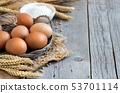 Chicken eggs, wheat and flour 53701114
