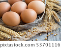 Chicken eggs and wheat 53701116