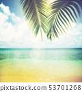 배경 - 남국 - 바다 - 하늘 - 여름 - 해변 - 빈티지 53701268