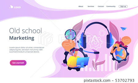 Cold calling concept landing page. 53702793