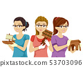 Teen Girls Woodworking Projects Illustration 53703096
