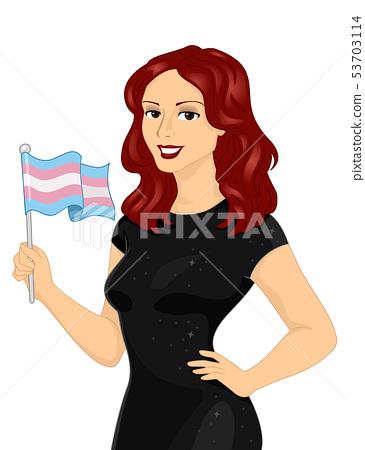 Girl Transgender Flag Illustration 53703114