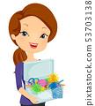 Girl Fidget Bin Illustration 53703138