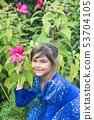 Portrait of little girl outdoors 53704105