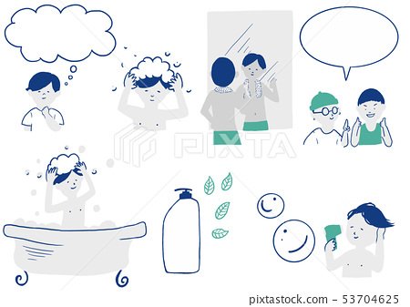 Men shampoo hair wash