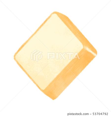 Square soft bread (sliced / diagonal) 53704792