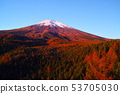 Take a sunrise in the red foliage season of Mt. Fuji 53705030