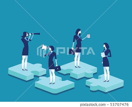 Teamwork. Business person and working. Concept 53707476