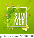 Summer paper border art 53707698