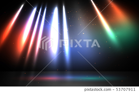 colorful light on the stage 53707911