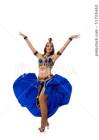 Beautiful woman in costume for belly dance 53708460