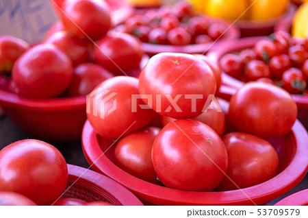 班讓市場深紅塑料膠西瓜新鮮新鮮番茄番茄傳統市場韓國 53709579