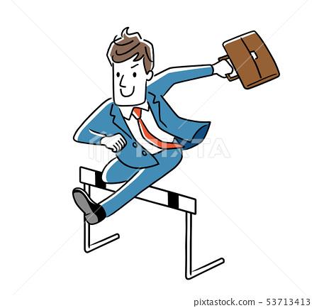 跳過障礙的商人 53713413