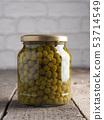 Organic peas in a jar 53714549
