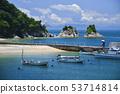 여름 대포 해안과 부부 바위 53714814