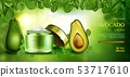 Avocado cosmetics skin care cream. beauty product 53717610