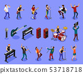 Rock musicians on isolated background 53718718