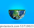 Half of the planet Earth with grass  53719023