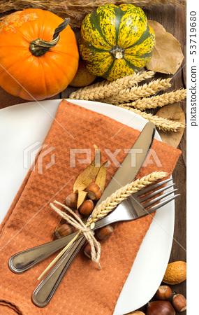 Autumn table setting 53719680