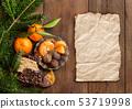 Chocolate, truffles and tangerins 53719998