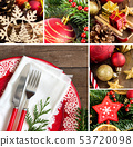 Collage with Festive table setting 53720098