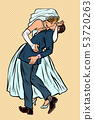 kiss bride and groom, wedding ceremony. feminist woman and man 53720263