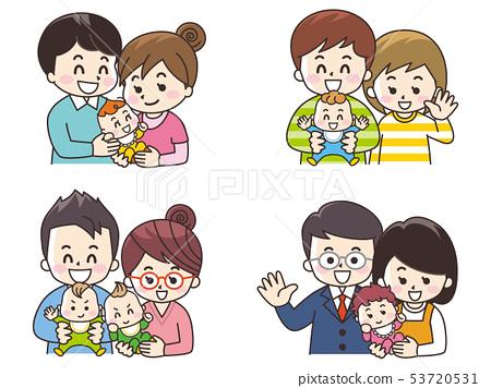 寶貝和父母 53720531