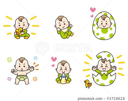 嬰兒做各種手勢 53720628
