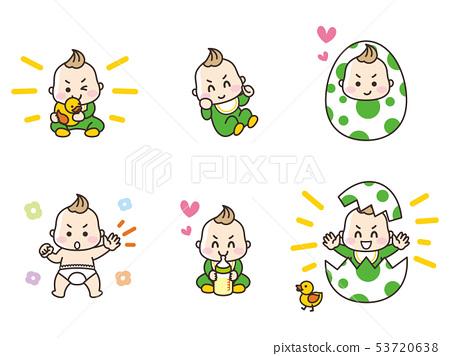 嬰兒做各種手勢 53720638