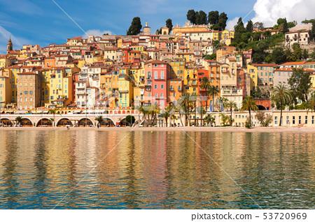 Menton, French Riviera, France 53720969