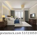 beautiful luxury bedroom suite in hotel with tv 53723059