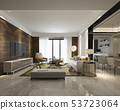 modern dining room and living room luxury decor 53723064