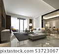 modern dining room and living room luxury decor 53723067
