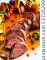 roast beef on the Christmas table 53726299