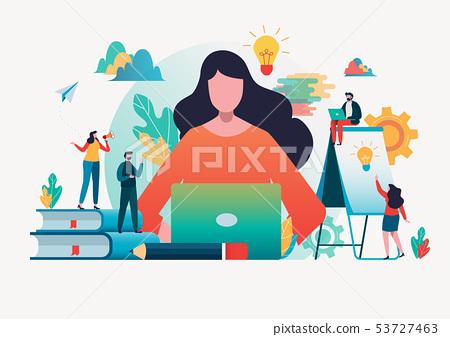 People create idea to success.Flat cartoon 53727463