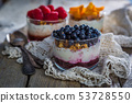 Selection of desserts with berries and fruits 53728550