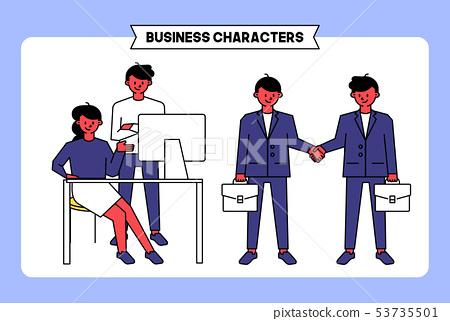 비즈니스 캐릭터 06 53735501
