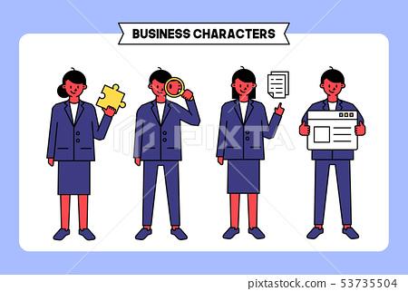 비즈니스 캐릭터 09 53735504