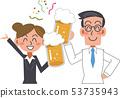 吐司喝酒派對的工薪族 53735943
