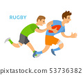 Rugby Players Man Chasing Opponent, Competition 53736382